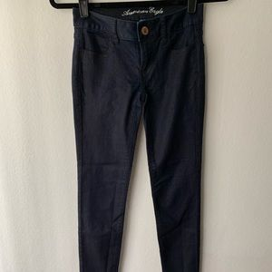 American Eagle Outfitters Jeans - American Eagle Cropped Stretchy Shimmer Jogging